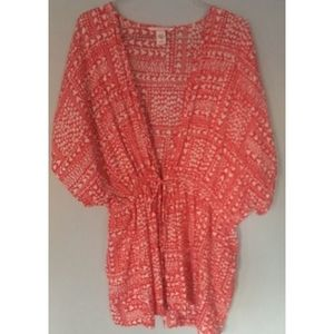 Victorias Secret Heart batwing Sleeve Coverup Robe